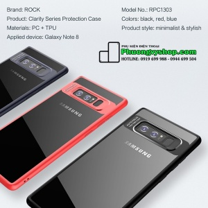 Ốp dẻo Rock Clarity trong suốt Galaxy Note 8